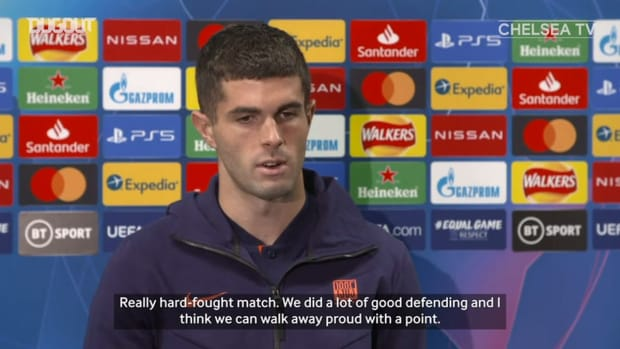Pulisic praises Chelsea's defence after Sevilla draw