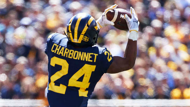 Michigan's Zach Charbonnet during a 2019 game