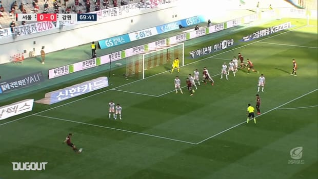 Park Chu-young beats Gangwon keeper with clever free-kick