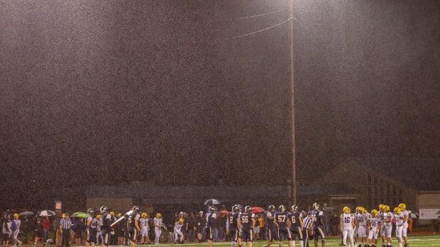 High School Football Rain