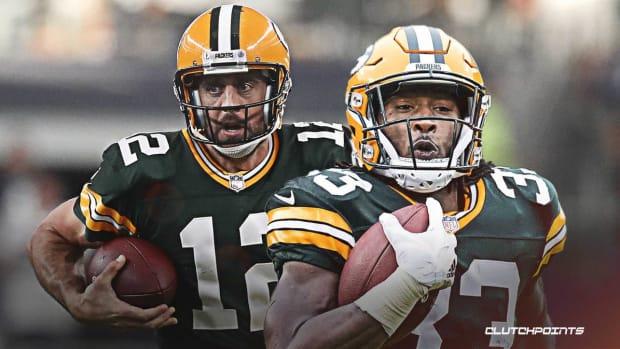 Aaron-Rodgers-Aaron-Jones-Packers