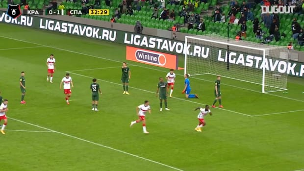 Victor Moses' debut goal with Spartak
