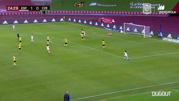 Spain women's amazing four goals against the Czech Republic