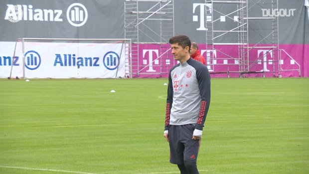 FC Bayern train ahead of Lokomotiv Moscow clash