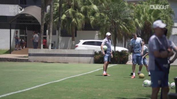 Santos' last training session before Ceará clash