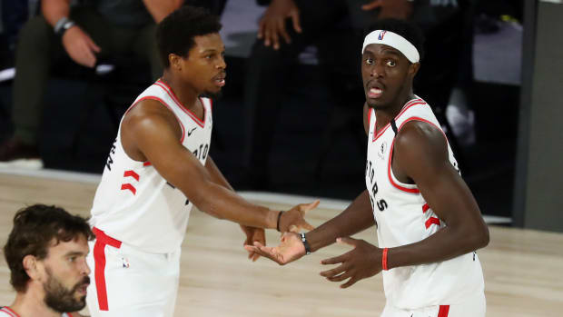 Toronto Raptors forward Pascal Siakam and guard Kyle Lowry