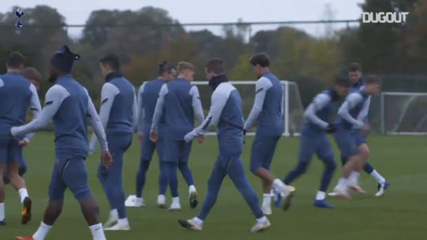 Tottenham train ahead of Antwerp clash