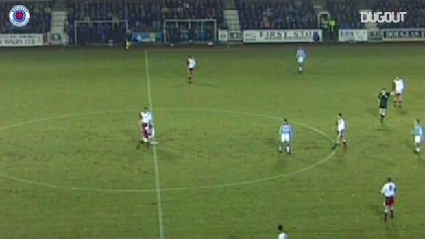 Paul Gascoigne finds the net vs Kilmarnock