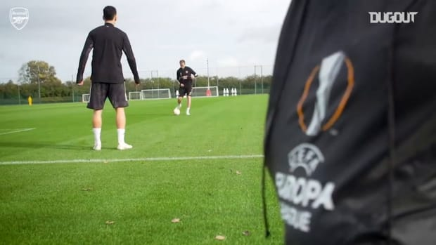 Martinelli on the training ground as Arsenal prepare for Dundalk