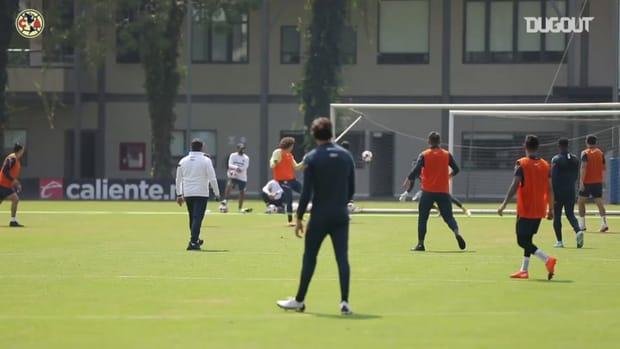 Ochoa's header goal and assist in training