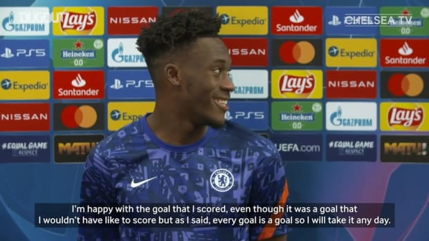 Hudson-Odoi delight at first Champions League goal