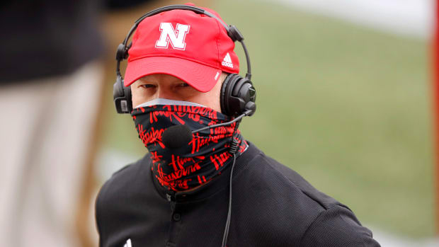 Nebraska Cornhuskers head coach Scott Frost before the game between the Ohio State Buckeyes and the Nebraska Cornhuskers at Ohio Stadium.