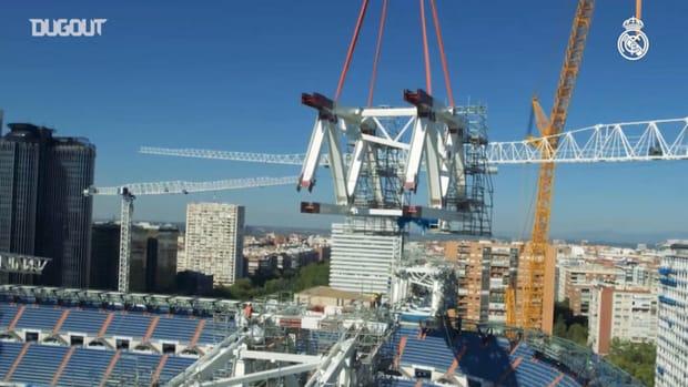 Progress of Santiago Bernabéu redevelopment work