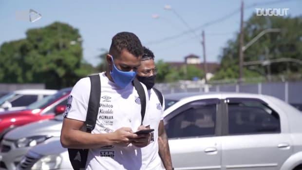 Behind the scenes of Santos' draw vs Ceará at Vila Belmiro