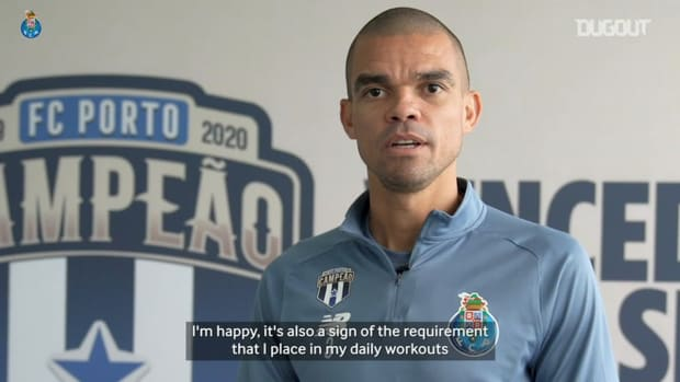 Pepe on his 100th Champions League match