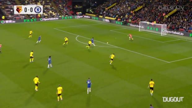 Jorginho's inch-perfect assist for Abraham vs Watford