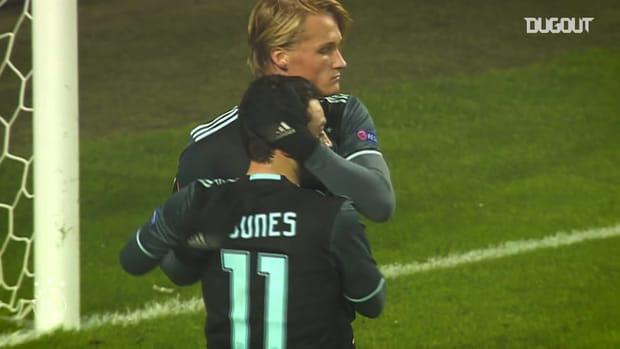 Ajax's goals against Danish opposition