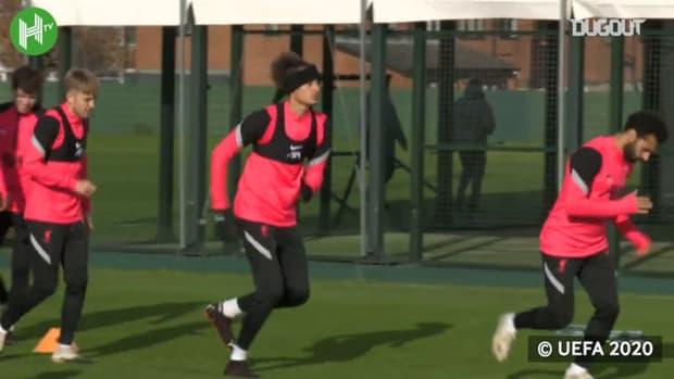 Liverpool train ahead of Atalanta Champions League clash