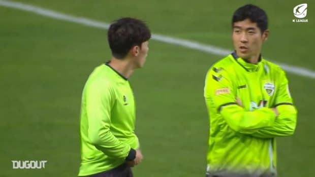 Jeonbuk 2020 K League trophy celebrations