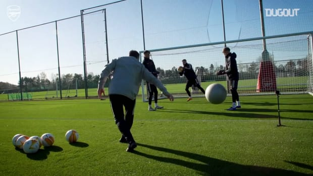 Arsenal stars in training before Molde fixture