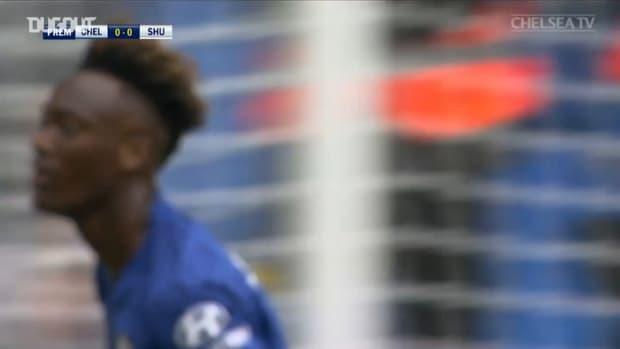 Tammy Abraham scores twice against Sheffield United