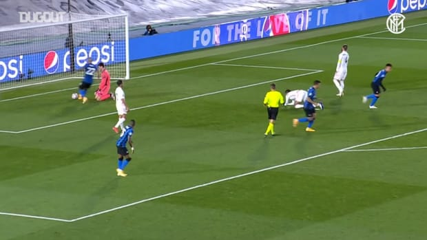 Nicolò Barella's back-heel assist vs Real Madrid