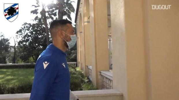 Sampdoria wear masks for 2020-21 team photo