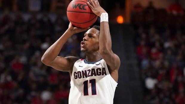 Gonzaga guard Joel Ayayi