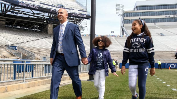James Franklin with his family