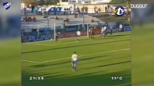 Luis Suárez's goal against Uruguayan side Liverpool