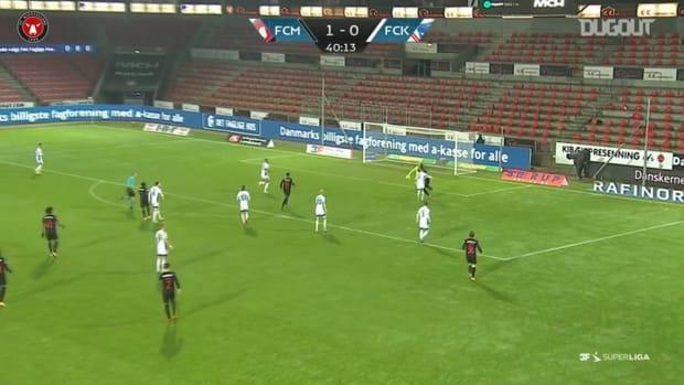 Evander's brilliant skill rewarded with goal vs Copenhagen
