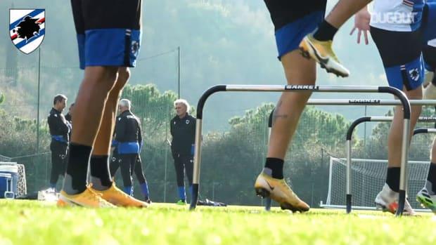 Sampdoria's return on the training ground