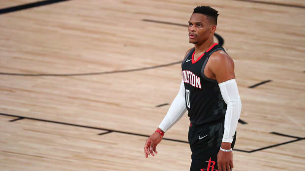 The Knicks have reportedly weighed trading for the Houston Rockets' Russell Westbrook.