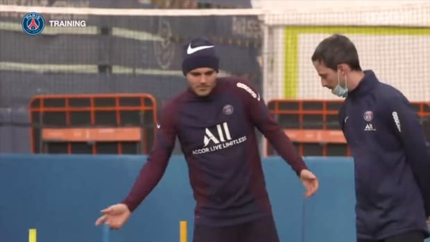 Mauro Icardi and Marco Verratti continue their preparation before returning to the pitch