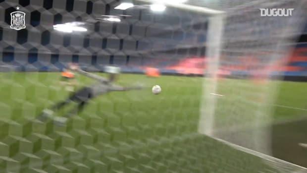 Great saves by Spain goalkeepers