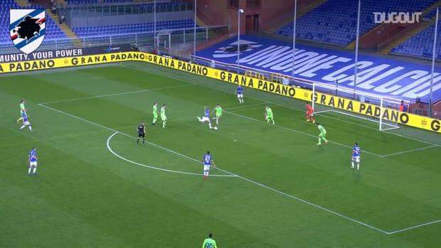 Damsgaard's first Sampdoria goal