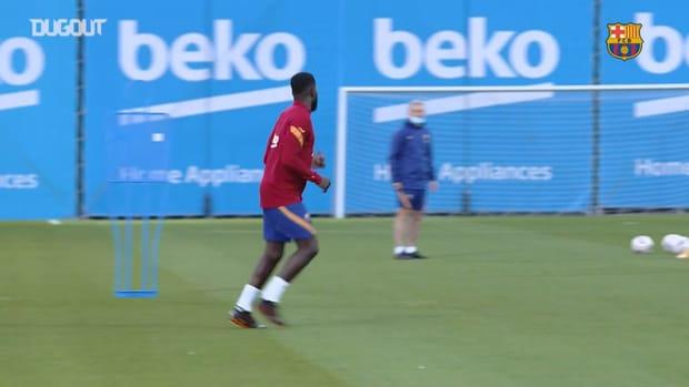 FC Barcelona return to training