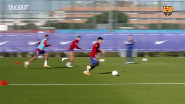 Training matches in FC Barcelona training