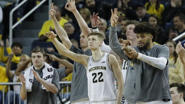 Cole Bajema played sparingly at Michigan.