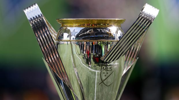The MLS Cup trophy
