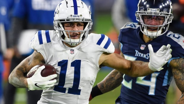 Indianapolis Colts rookie wide receiver Michael Pittman Jr. had seven receptions for 101 yards as well as a 21-yard rush in a Week 10 road win over the Tennessee Titans.