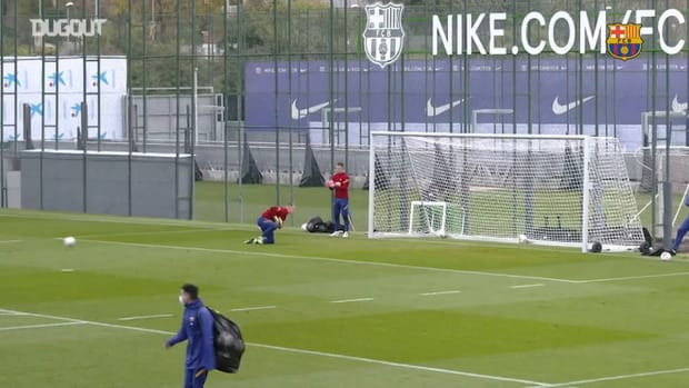 FC Barcelona's last training session ahead of Atletico Madrid