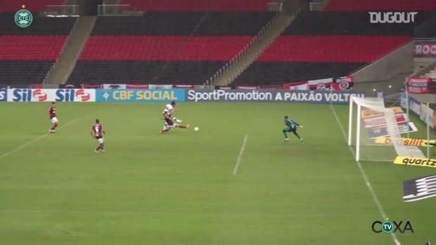 Mattheus Oliveira goal for Coritiba against Flamengo