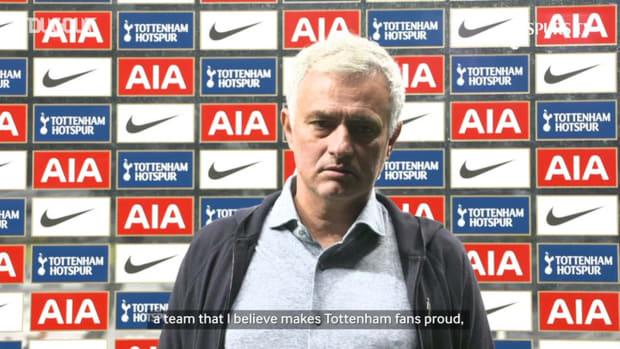 Mourinho: 'I'm very proud of the team'