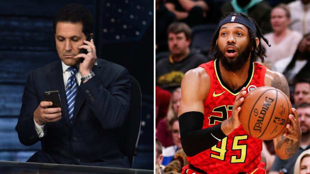 Split image of ESPN's Adam Schefter and NBA player DeAndre Bembry
