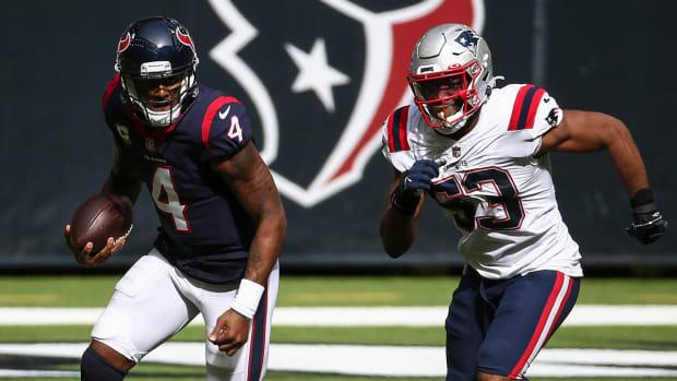 Deshaun Watson improved his mechanics against the Patriots