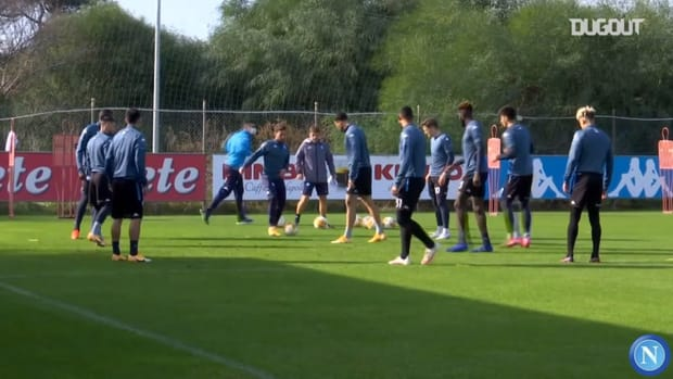 Napoli's last training ahead of Europa League clash against Rijeka