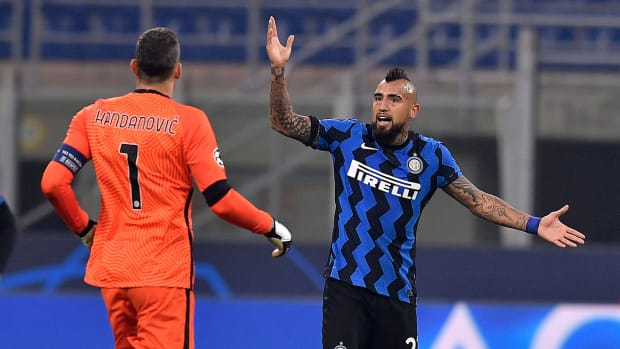Arturo Vidal and Inter Milan are in peril in Champions League
