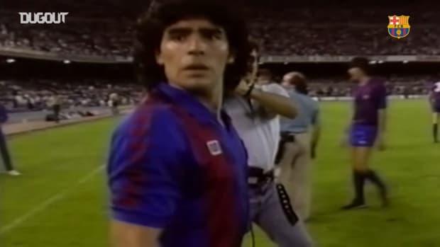 Maradona's best skills at FC Barcelona
