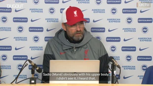 Klopp explains his view on 1-1 draw with Brighton